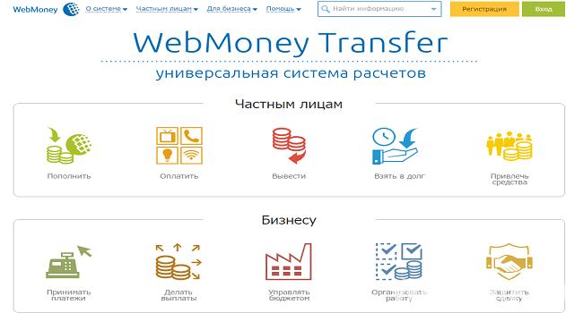 электронная платежная система вебмани