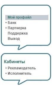 меню сайта форумок