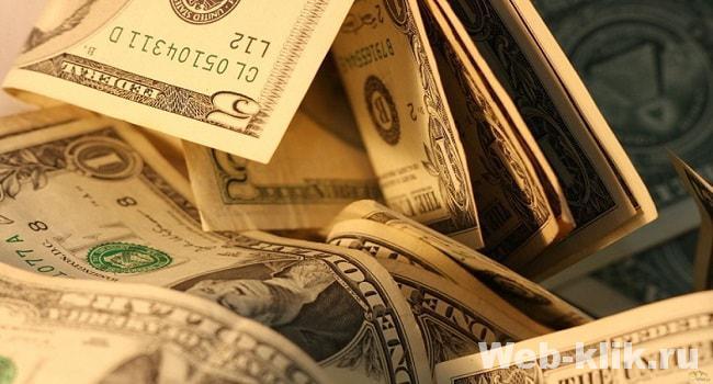 заработок в долларах на кликах