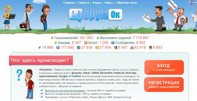система продвижения сайтов - форумок