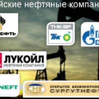 Крупнейшие нефтяные компании в России